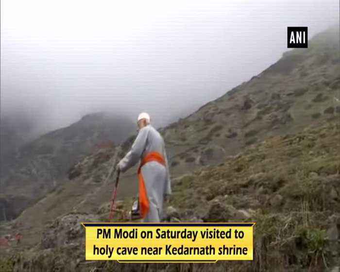 PM Modi mediates at holy cave near Kedarnath shrine