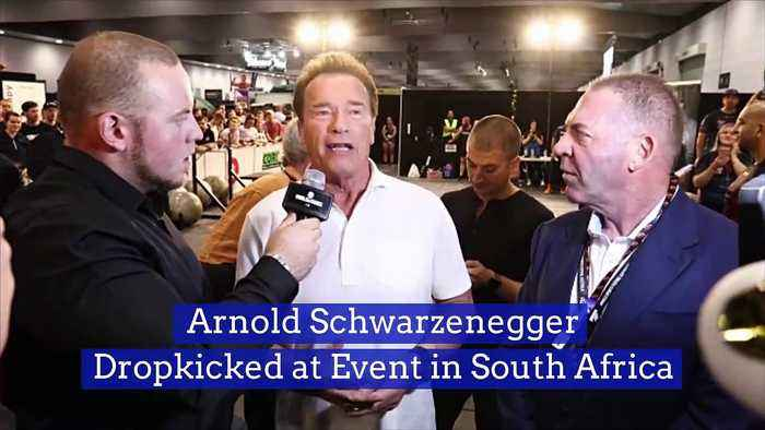 Arnold SchwarzeneggerDropkicked at Event in South Africa