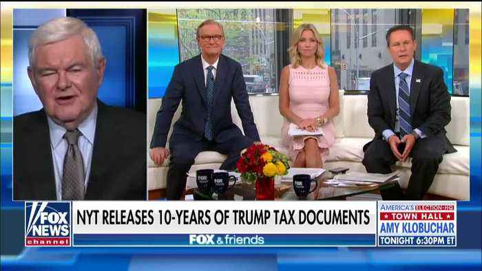 Gingrich reacts to New York Times report on Trump tax records