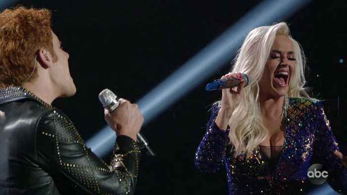 Katy Perry and Jeremiah Lloyd Harmon Perform 'Unconditionally' Live on American Idol