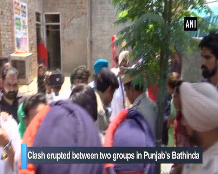 Clash erupts outside polling booth in Punjab's Bathinda