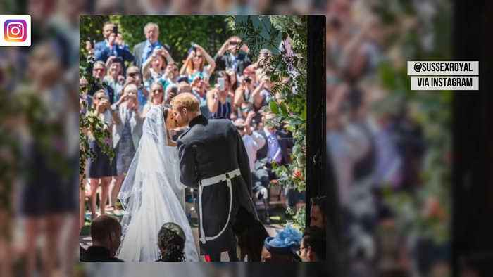 Duke and Ducess of Sussex share previously-unseen Wedding photos on First Anniversary