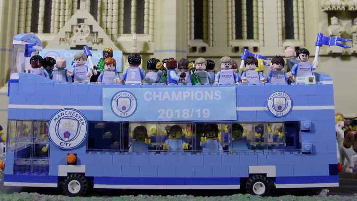 Man City's trophy celebrations recreated in Lego