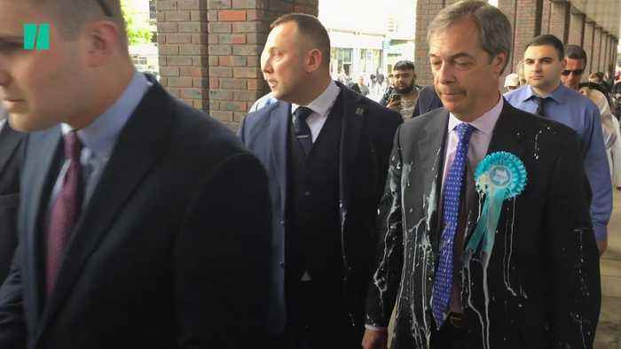 Right-Wing Politicians In The UK Are Being Pelted With Milkshakes