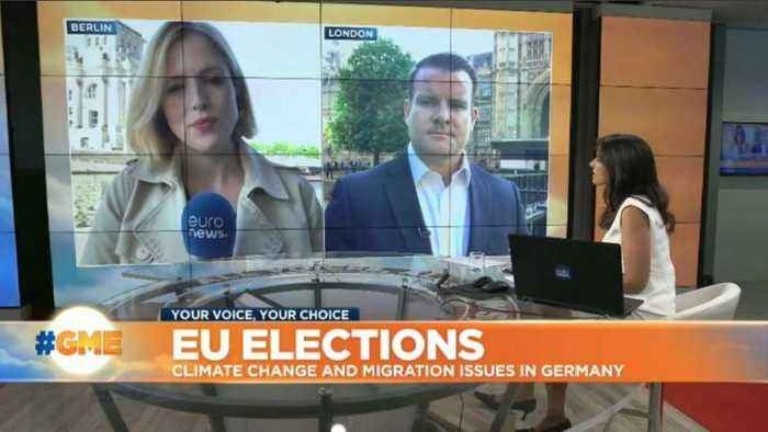 How are voters in UK and Germany reacting to upcoming EU elections?