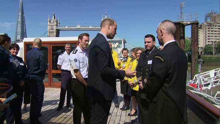 Prince William launches #SaferThames anti-drowning campaign