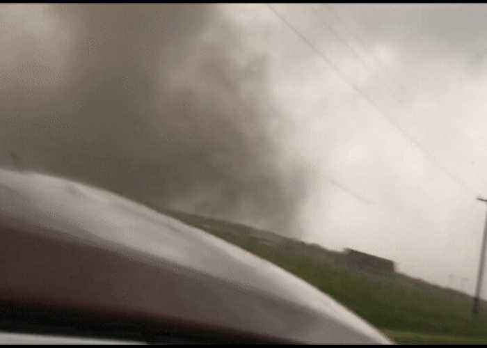 Photographer Captures Close-Up Video of Large Tornado in Mangum, Oklahoma