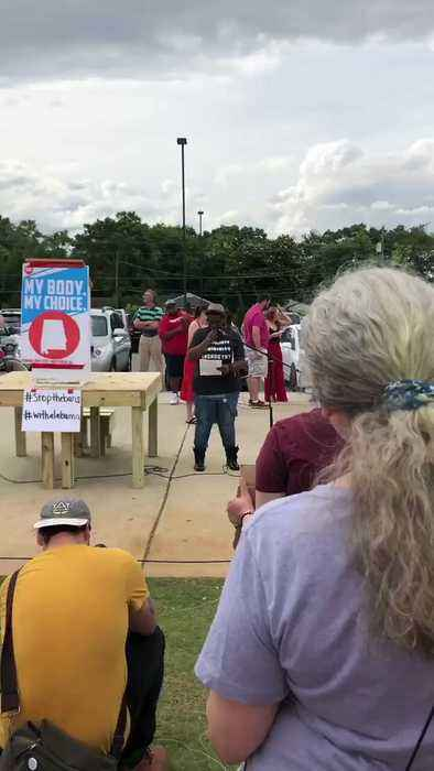 State Democratic Leader Addresses Alabama Rally Against Abortion Law
