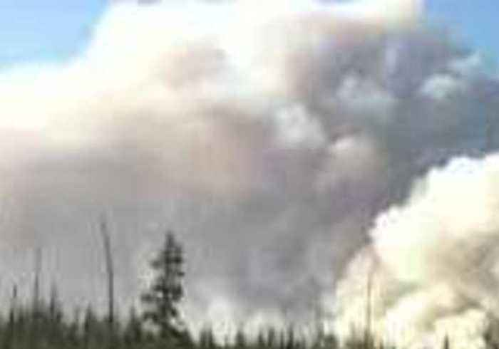 Crews Fight Wildfires in Alberta's Slave Lake Forest Area