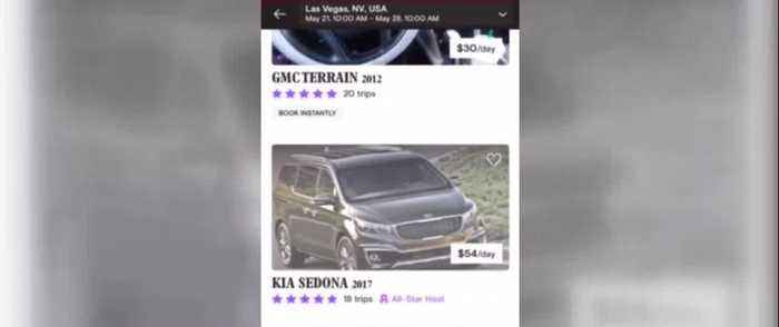 Drivers in Las Vegas renting their car out to make extra money