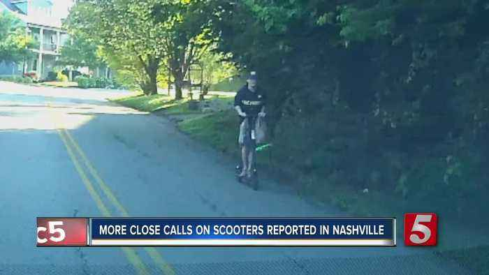 More close calls on scooters reported in Nashville