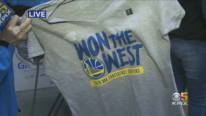 Fans Celebrate, T-Shirts Printed As Warriors Advance To 5th Straight Finals