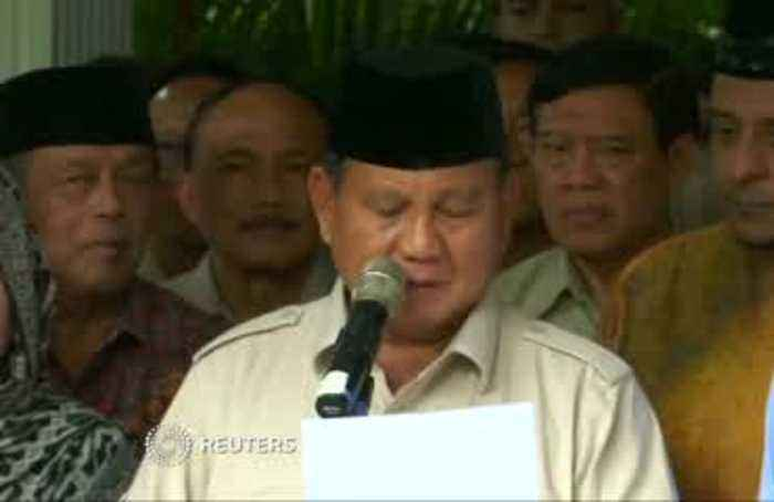 Indonesia's presidential challenger says does not accept result