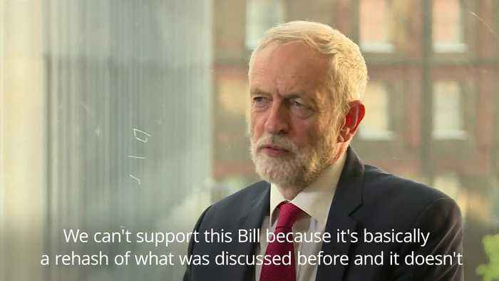 Jeremy Corbyn: we will not be supporting PM's Brexit Bill