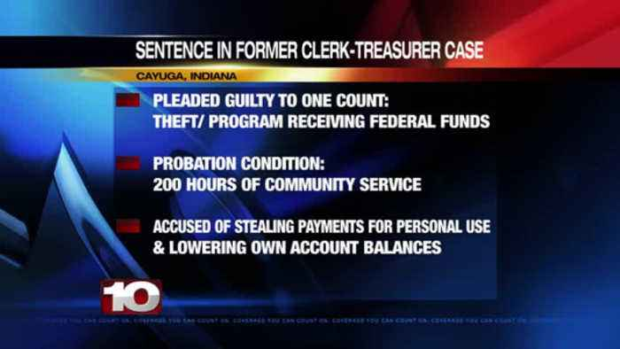 Former Cayuga clerk-treasurer receives probation, ordered to pay restitution after guilty plea of th