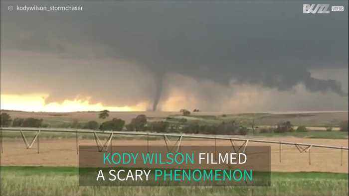 Storm chaser films giant tornado in Nebraska