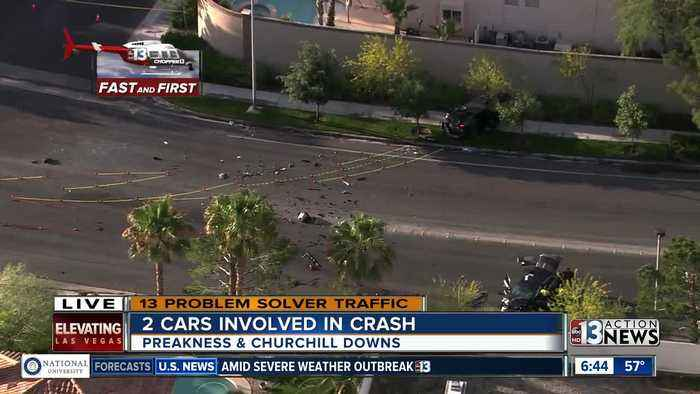 First Look: Traffic impact of deadly crash near Fort Apache and Sahara
