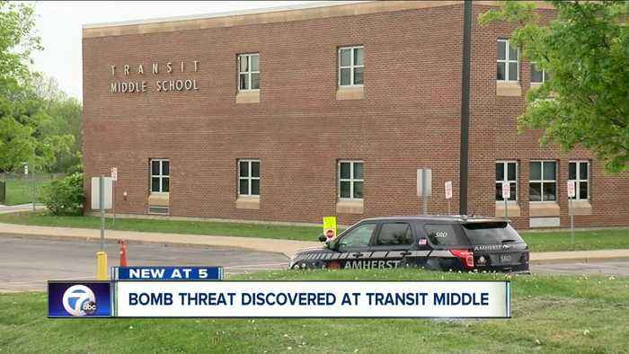 Bomb threat discovered at Transit Middle School