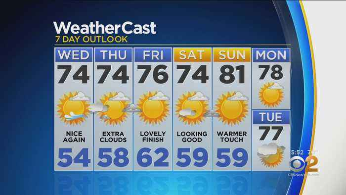 New York Weather: CBS2 5/21 Evening Forecast at 5PM