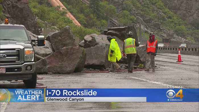Glenwood Canyon Rock Slide Causes Issues On Interstate 70