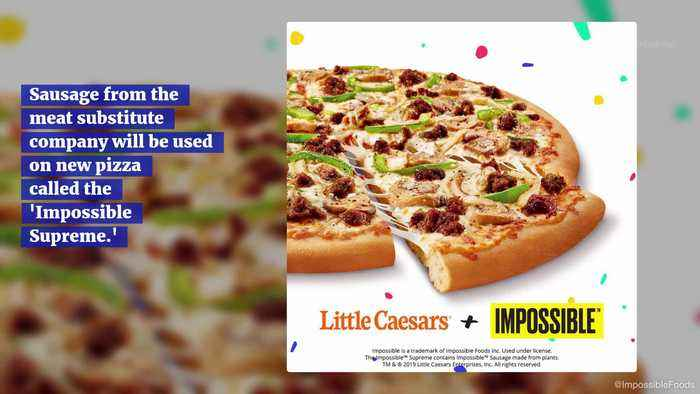 Little Caesars Pizza Joins the Impossible Meat Fun with Plant Based Sausage