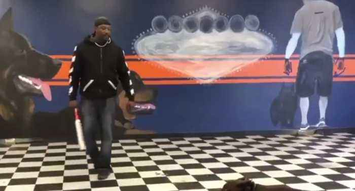 Viral video of local dog trainer causing outrage