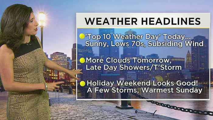 WBZ Morning Forecast For May 22