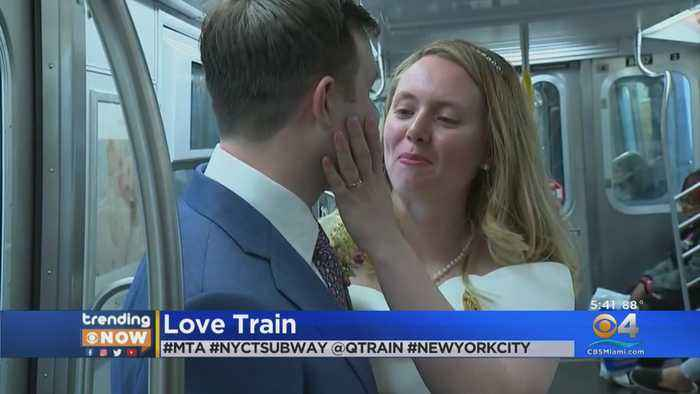 Couple Gets Hitched On NYC Subway Train