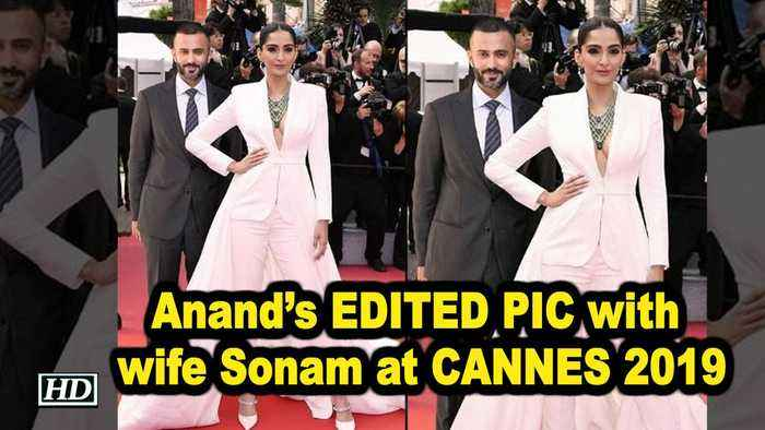 Anand's EDITED PIC with wife Sonam at CANNES 2019