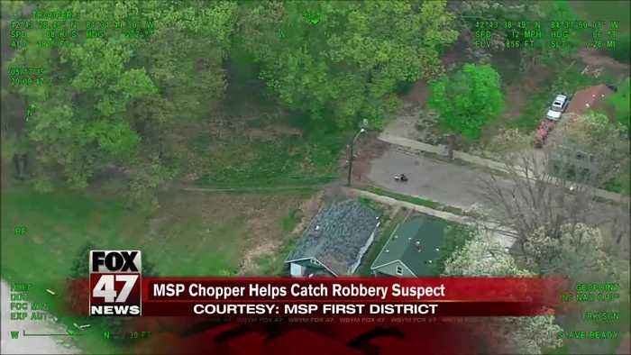MSP chopper helps catch robbery suspect in Lansing