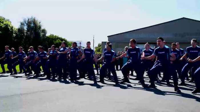 New Zealand Air Force Members Perform Haka For US Indo-Pacific Airmen