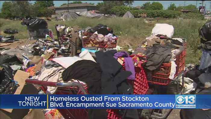 Homeless Ousted From Stockton Blvd. Encampment Sue Sacramento County