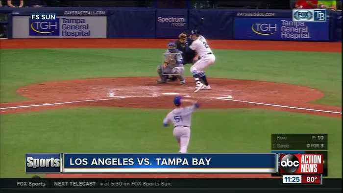 Kevin Kiermaier and Avisail Garcia lead Tampa Bay Rays to 8-1 win over Los Angeles Dodgers