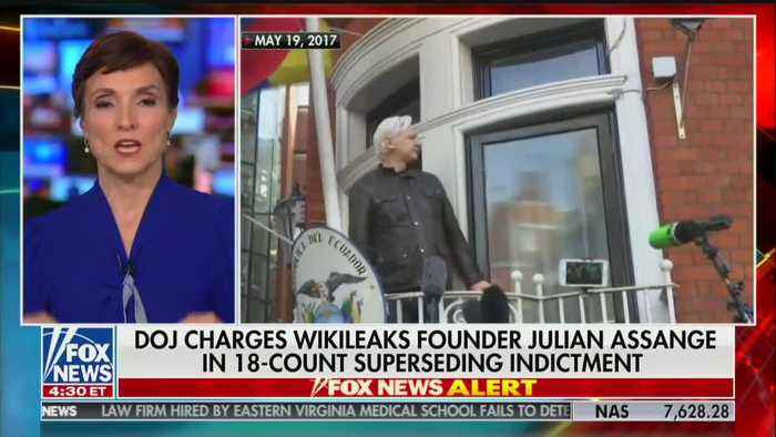 Julian Assange charged with violating the Espionage Act by the Justice Department