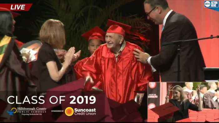95-year-old World War II veteran finally realizing his dream of graduating from high school