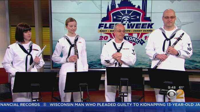 U.S. Navy Band Performs During Fleet Week