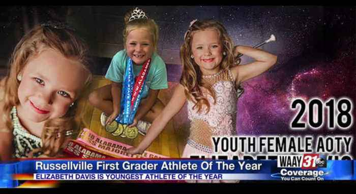 Russellville first grader honored as athlete of the year