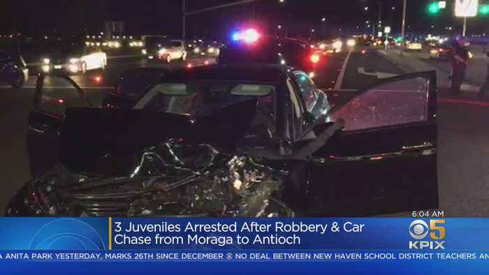 Gas Station Robbery Leads To Chase, East Bay Crash