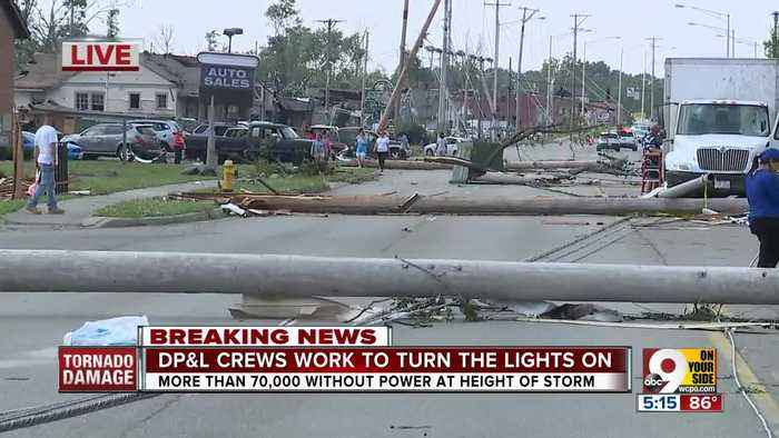 Crews working to restore power after tornadoes