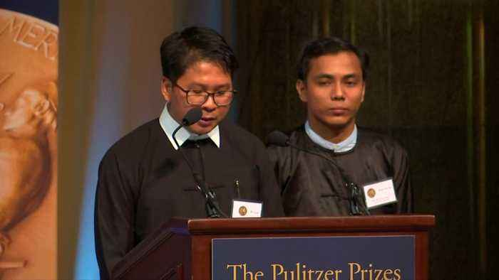 Reuters journalists Wa Lone, Kyaw Soe Oo receive Pulitzer