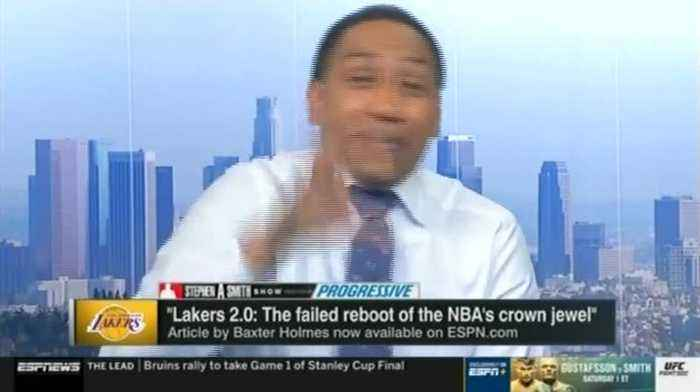 Stephen A. Smith Has On-Air Meltdown Over ESPN Reporting on Magic Johnson