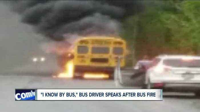 """""""Everybody grab your stuff and get off the bus now,"""" 'hero' bus driver speaks following bus fire"""