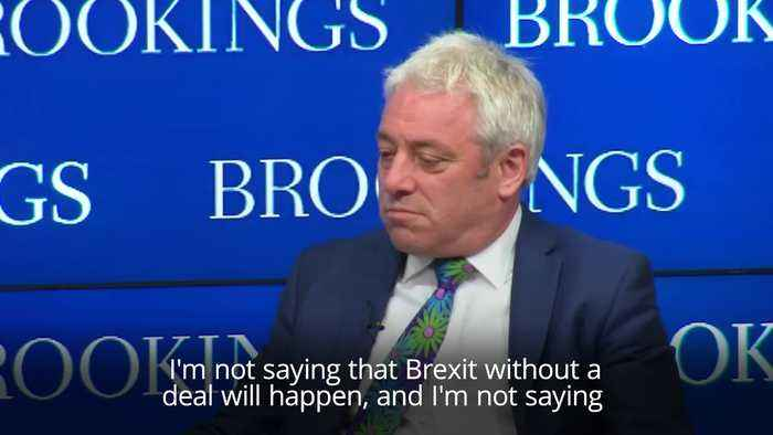 Bercow says MPs could block no-deal Brexit