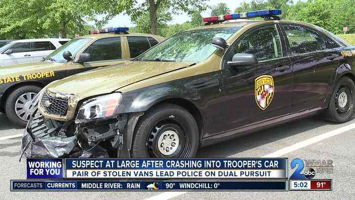Suspect at large, two others detained following separate State Police pursuits on I-95