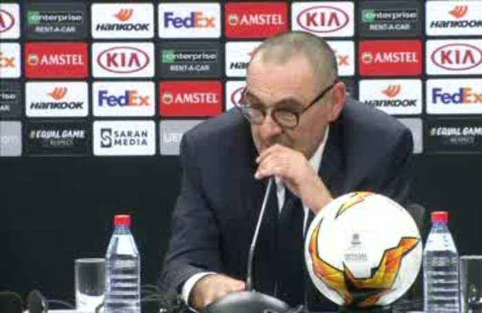 Sarri says Chelsea deserved Europa League win, uncertain about future with club