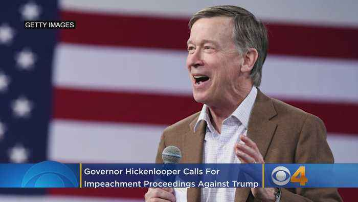 Hickenlooper Calls For Impeachment Proceedings Against Trump