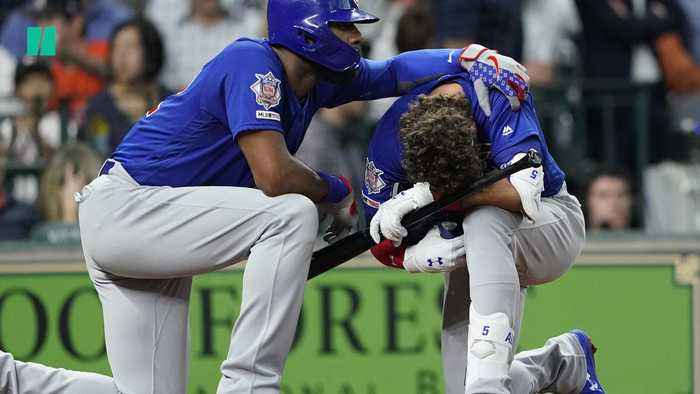 Baseball Hits Child In The Stands During Chicago Cubs Game