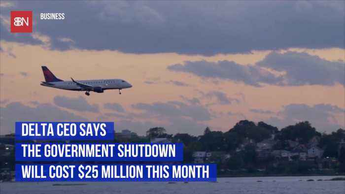 Delta Says Shutdown Is Costing 25 Million A Month