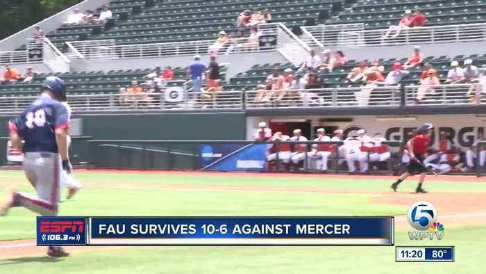FAU Baseball defeats Mercer to stay alive in the NCAA tournament