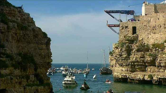 Watch: Cliff Diving World Series makes Italian stop on world tour